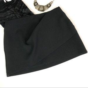 Zara Woman Elegant Black Tiered Mini Skirt Small